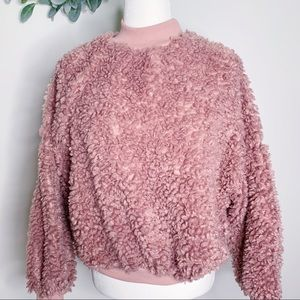 Tops - Mock Neck Fuzzy Pullover